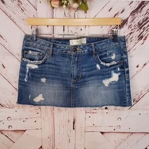 Abercrombie & Fitch Distressed Jeans Skirt 4